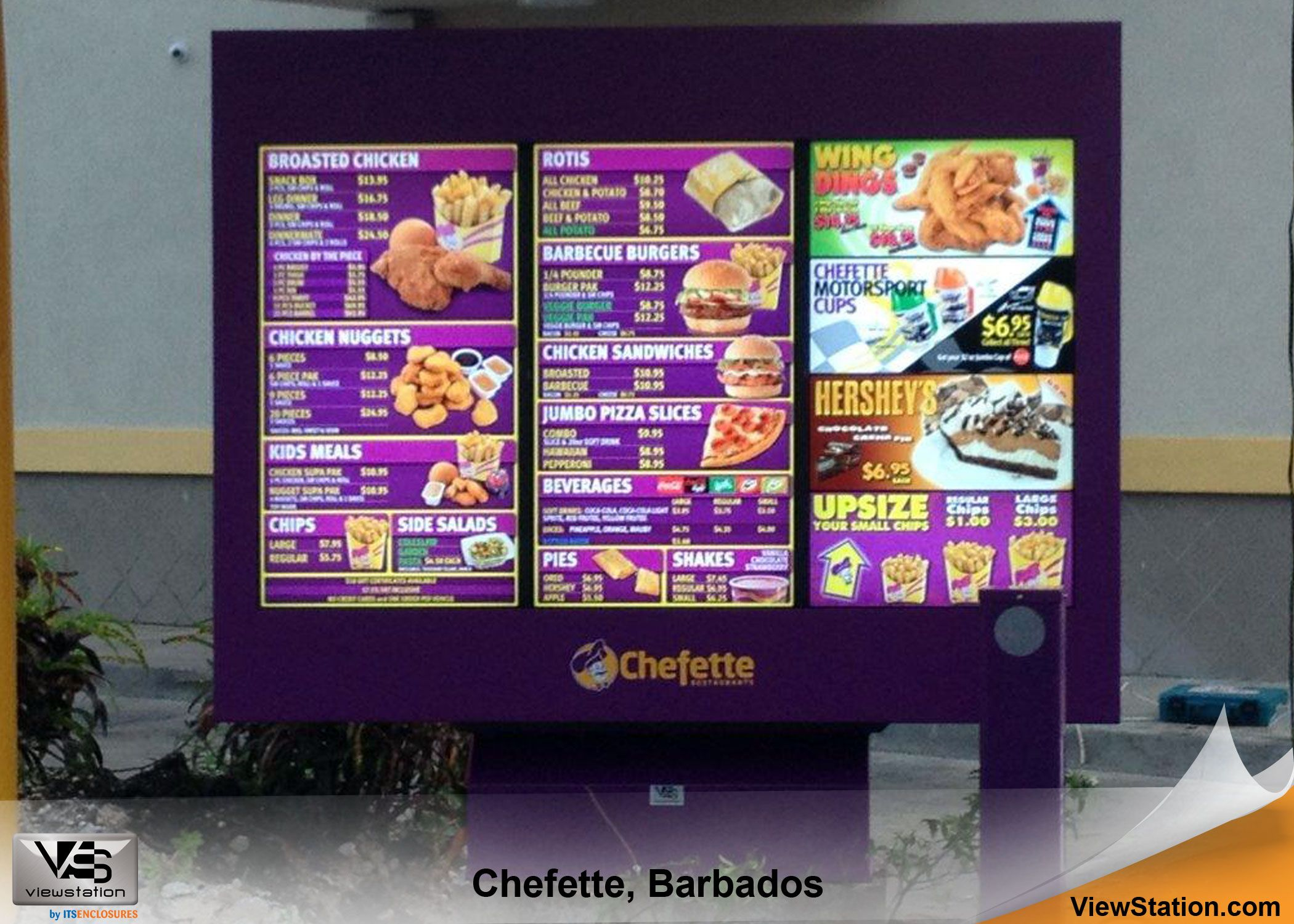 7b131a3ad55c Chefette Barbados - Caribbean Islands ViewStation QSR (Quick Service  Restaurant) by ITSENCLOSURES Digital Menu Board #ViewStation