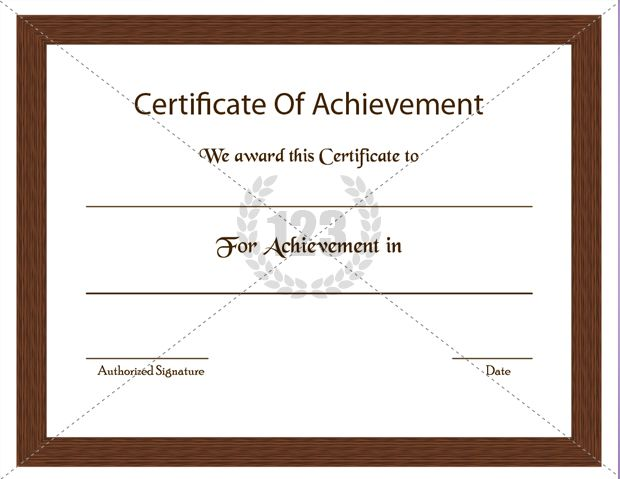 Most Precious Certificate of Achievement Template Free Download - blank certificates templates free download