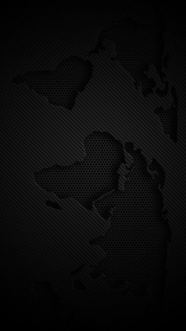 World Map Dark iPhone 5s Wallpaper Choose more in