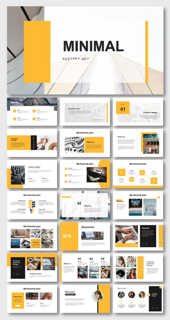 Clean Business & Introduction PowerPoint Template