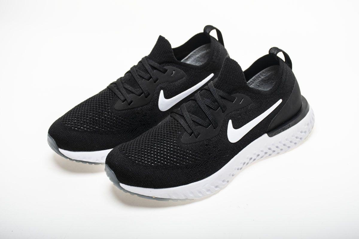 b29e4b4983017 Nike Epic React Flyknit AQ0067-001 Black White Shoes6