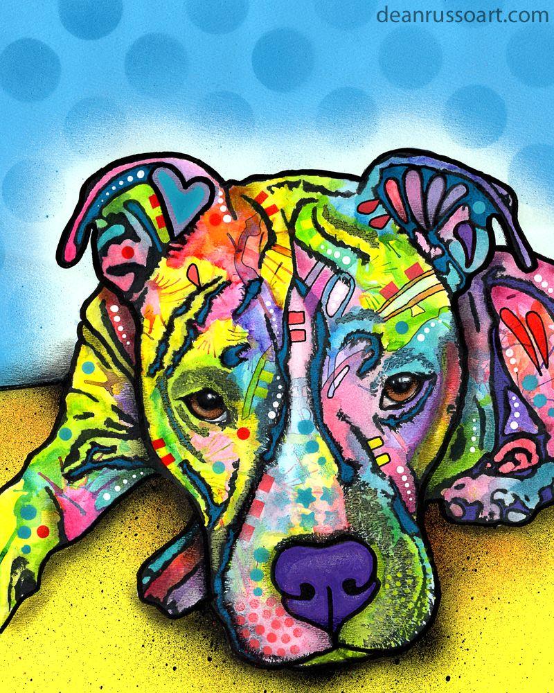 Pitbull Art Colors Art Dog Art