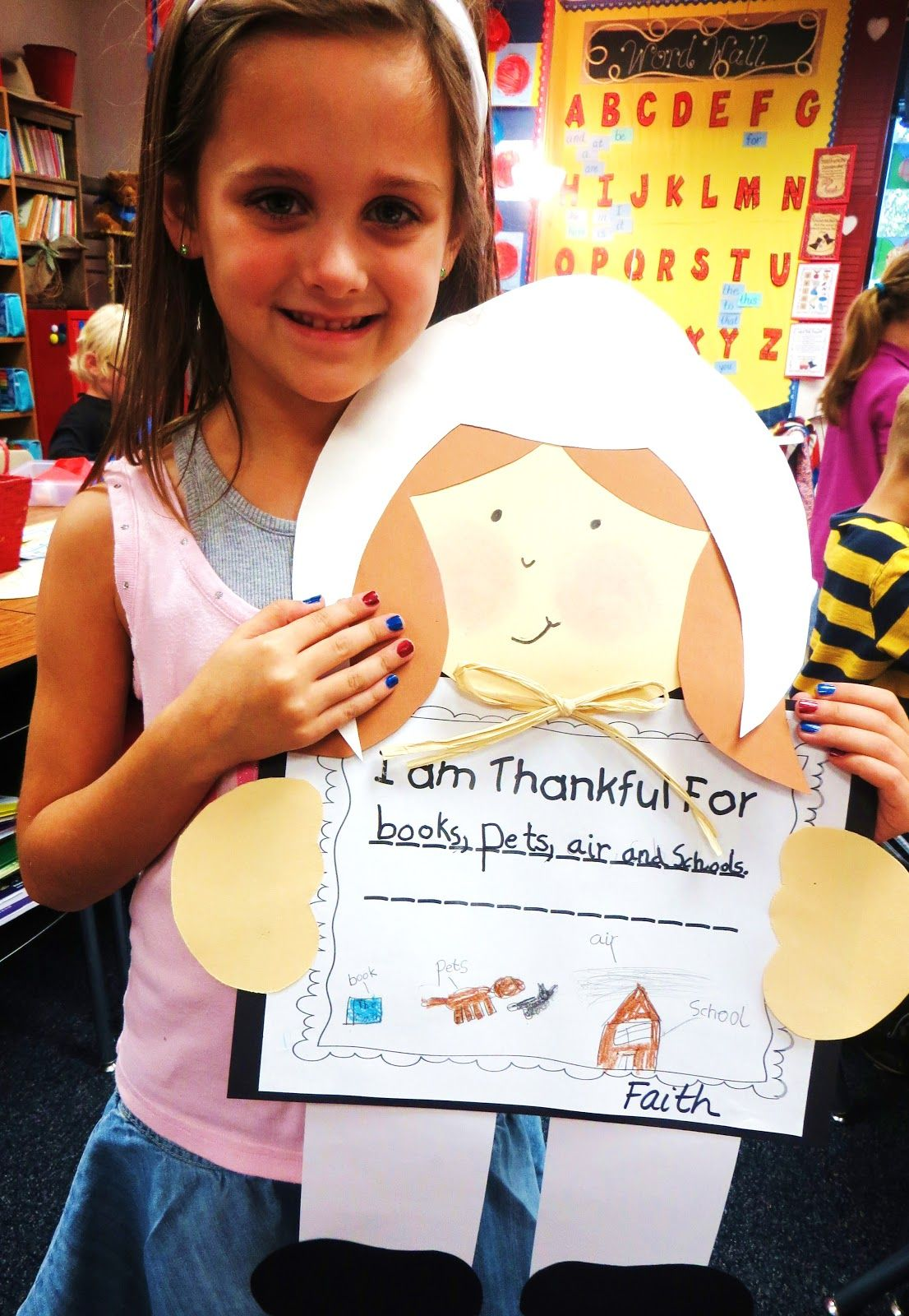 First Grade Wow Pilgrim Kids And First Graders Thankful