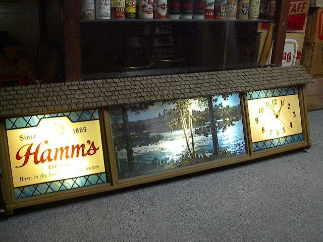 Large Hamms Beer Motion Sign Light Camp Fire Amp Canoe With