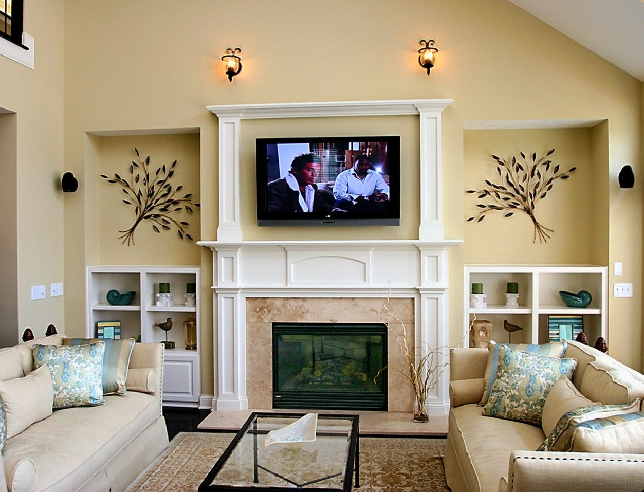 Living Room Furniture Layout With Fireplace And Tv On Opposite
