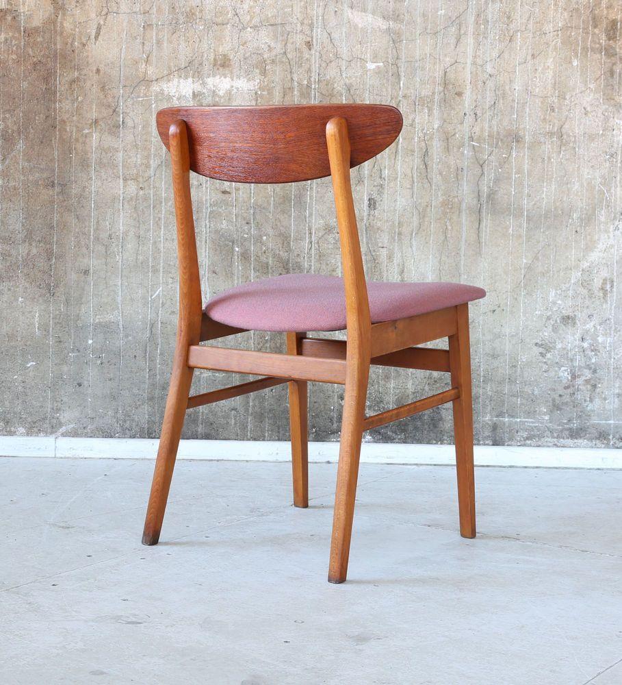 Danish 60er Century Stuhl Neubezug Farstrup Chair Mid 60s Teak CroedBx
