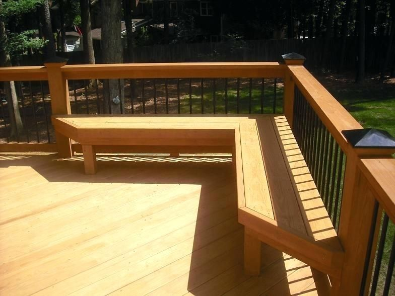 Comfortable Seating Deck Bench Plans Deck Railing Seating Ideas