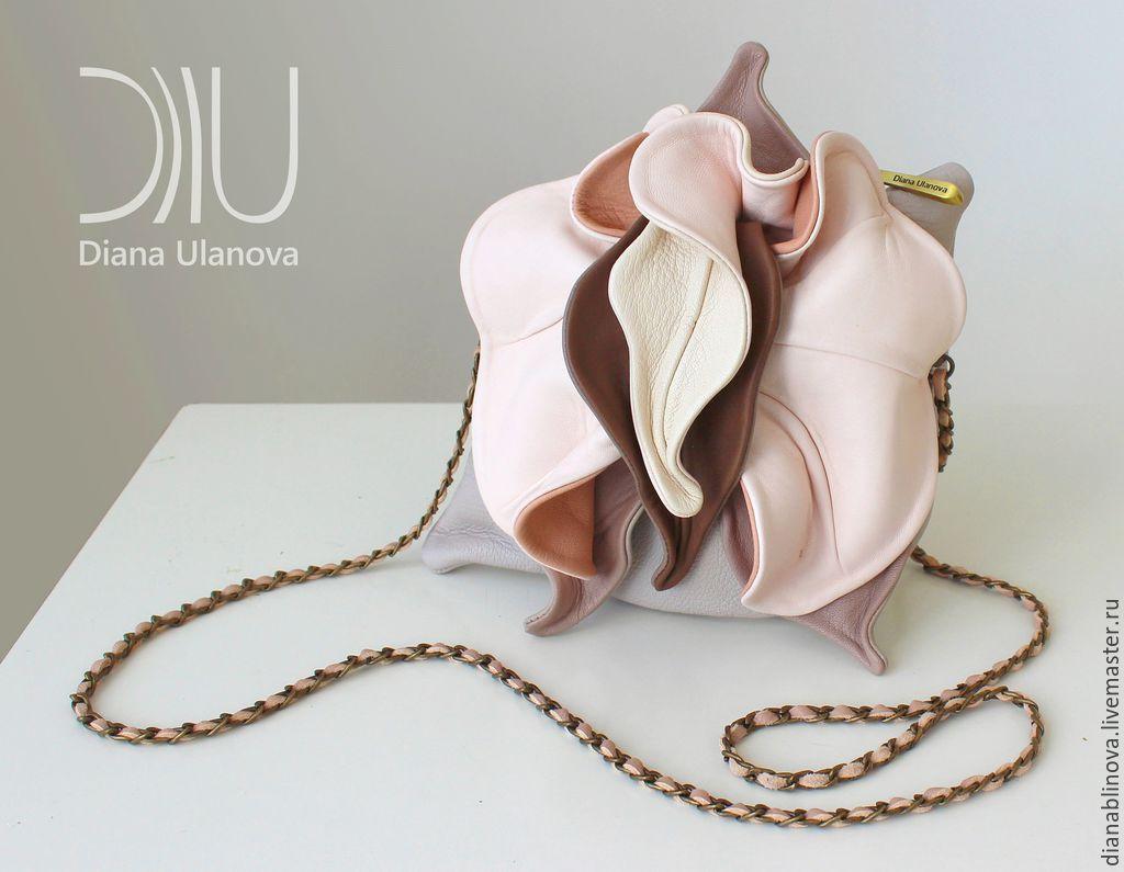 51dab3e8e8bb Купить мини Орхидея коричнево-бежевая - цветочный, фиалка, Красивая сумка,  маленькая сумка