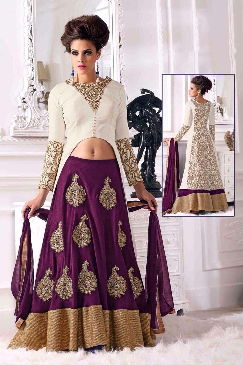 1f328f1a84d Suitsvilla Heavy Dark Purple Stylish Designer Floor Touch Suit ...