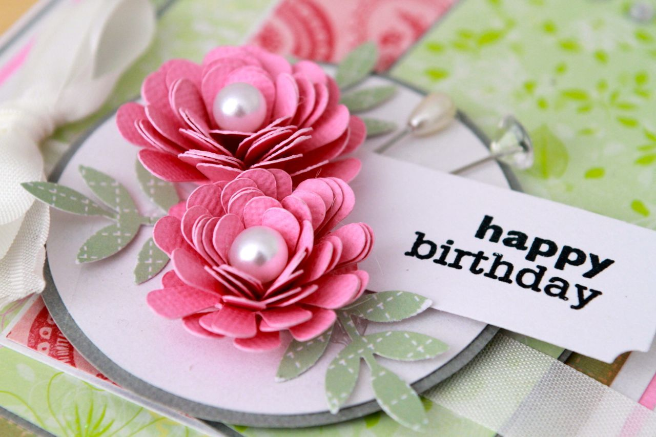 Happy birthday with flowers paper crafts pinterest happy happy birthday with flowers izmirmasajfo Choice Image