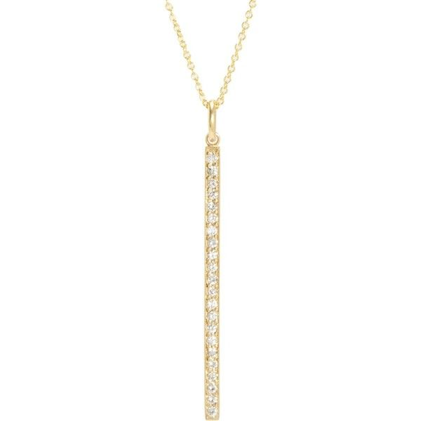 Jennifer Meyer Womens Diamond Stick Necklace Us4Qj