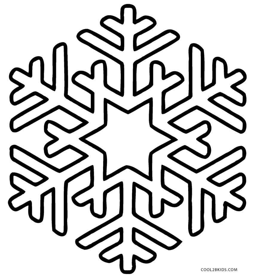 Printable Snowflake Coloring Pages For Kids | Cool2bKids ...