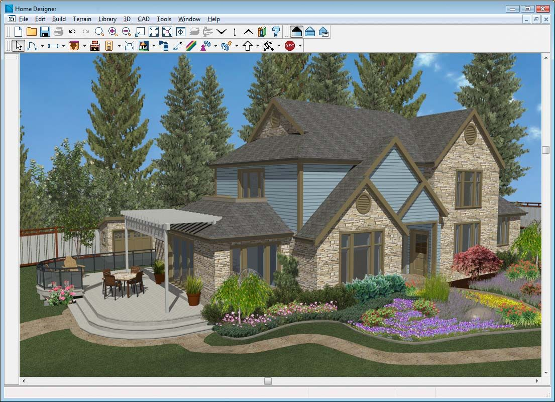 Autocad landscape design software free bathroom design for Virtual exterior house design