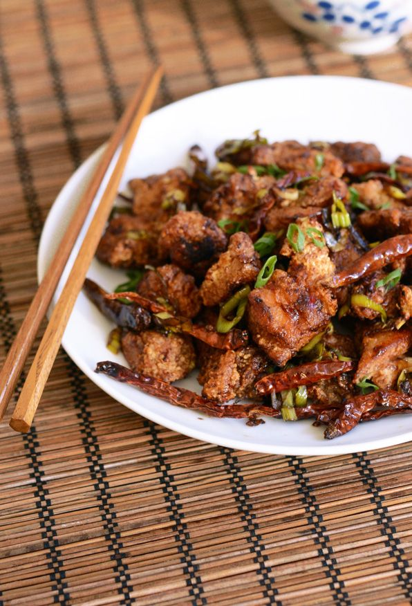 Spicy Wok Fried Chicken With Chilis Chongqing Chicken Appetite For China Wok Recipes Spicy Recipes Asian Recipes