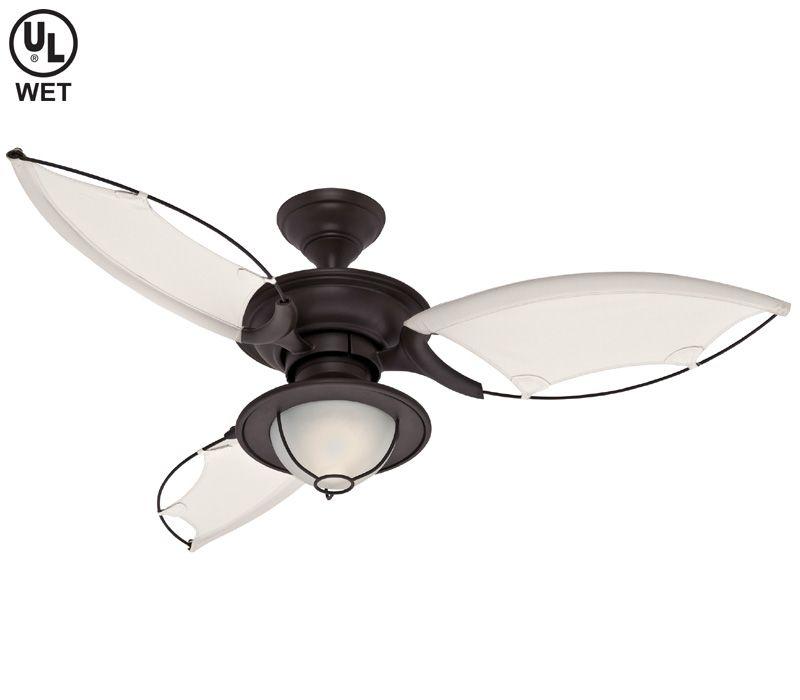 Contemporary Nautical Ceiling Fan Hunter 25522 Sanibel Coastal