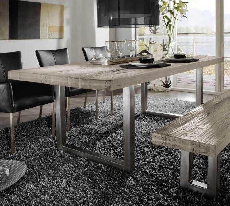 Table en bois massif haut de gamme en 27 photos ! Table en bois