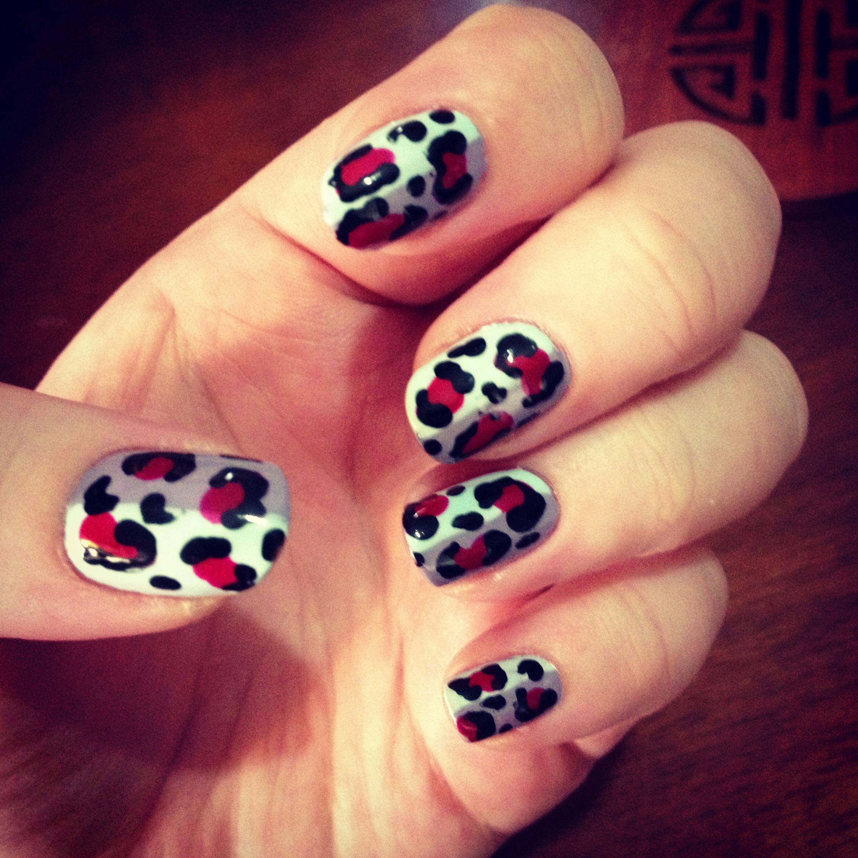 Leopard print nails   Leopard print nails, Nails, Hair beauty