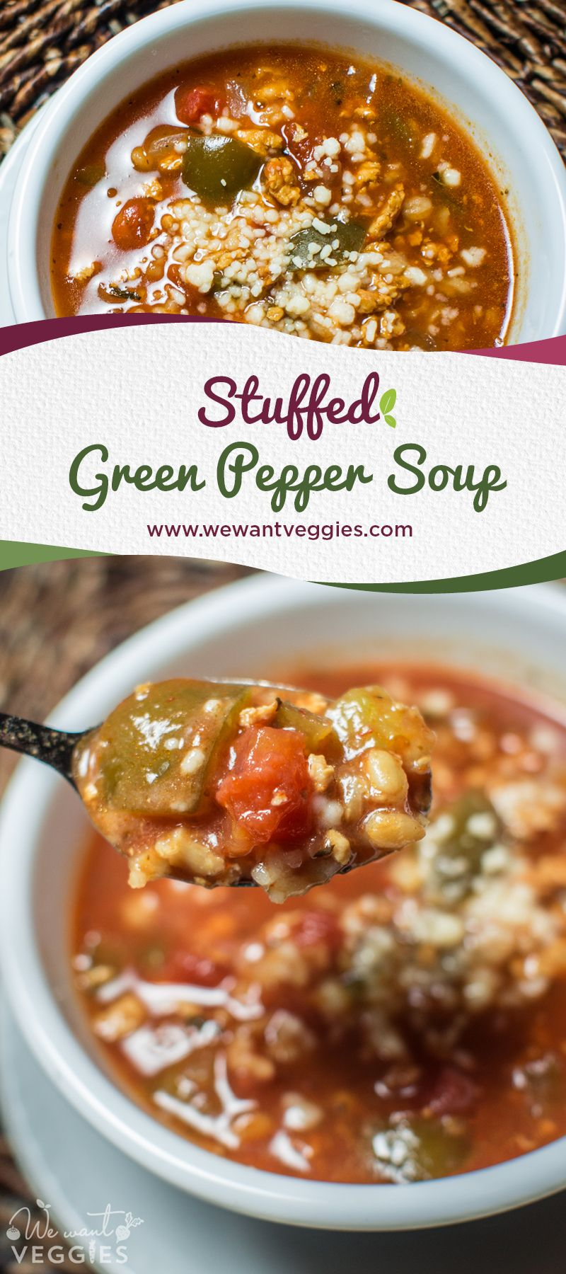 Stuffed Green Pepper Soup An Easy Recipe For Your Slow Cooker Recipe Stuffed Peppers Green Pepper Soup Stuffed Green Peppers