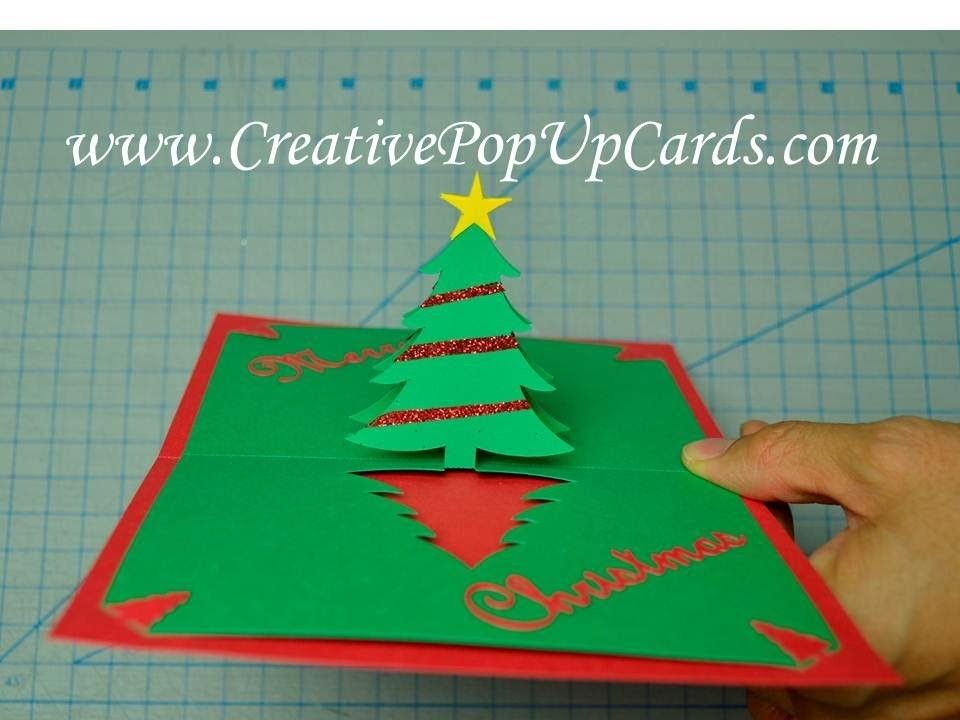 Easy Christmas Tree Pop Up Card Tutorial Christmas Cards To Make Diy Christmas Cards Christmas Cards