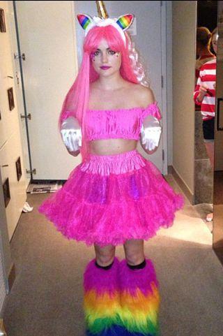 HAHA Lucy Hale\u0027s unicorn Halloween costume is hilarious - ridiculous halloween costume ideas