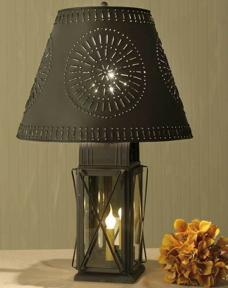 Details About Farmhouse Milk House Tin Table Lamp Willow Shade 4