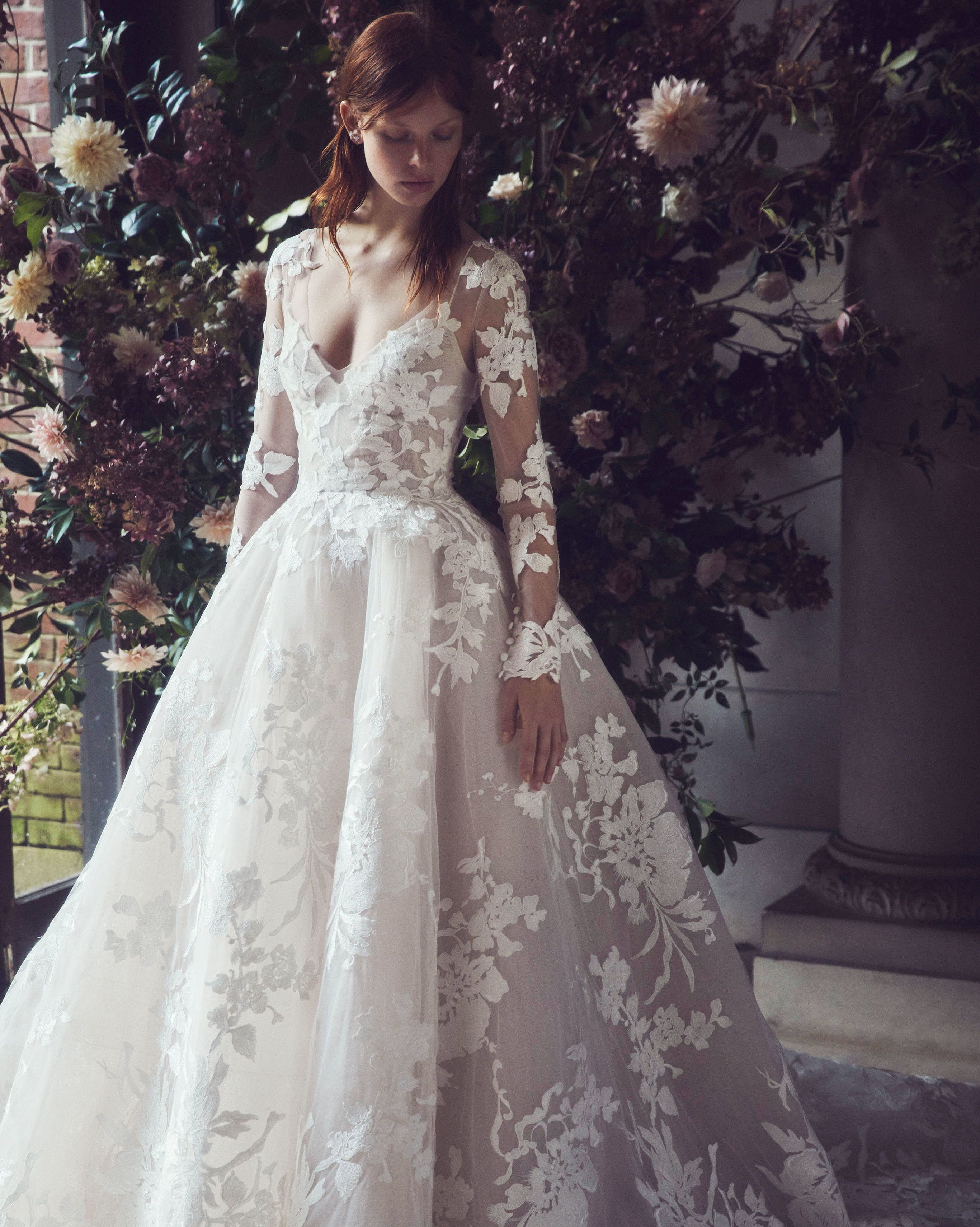 Monique Lhuillier Fall 2019 Wedding Dress Collection Bridal