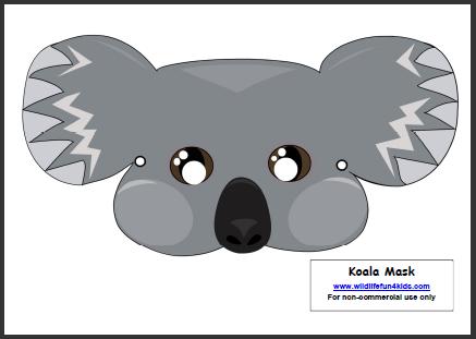 Koala Mask mask activity | Unit Study - Australia | Pinterest ...