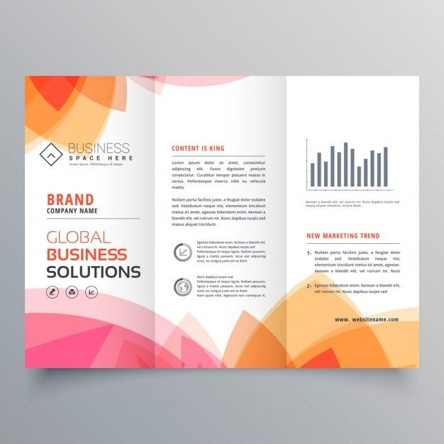 modern brochure with warm colors free vector