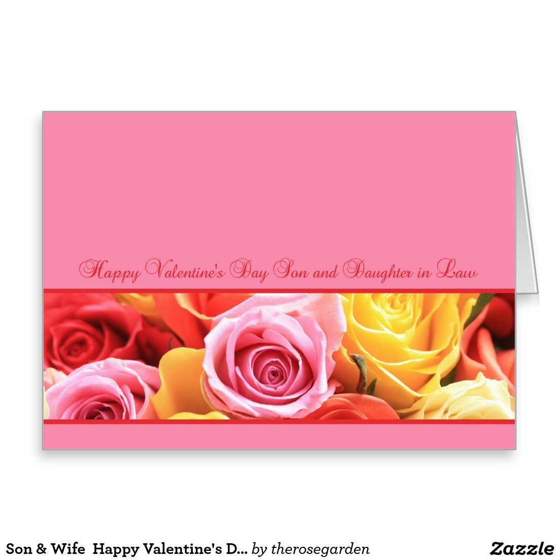 Son Wife Happy Valentines Day Roses Greeting Card Stuff Sold On