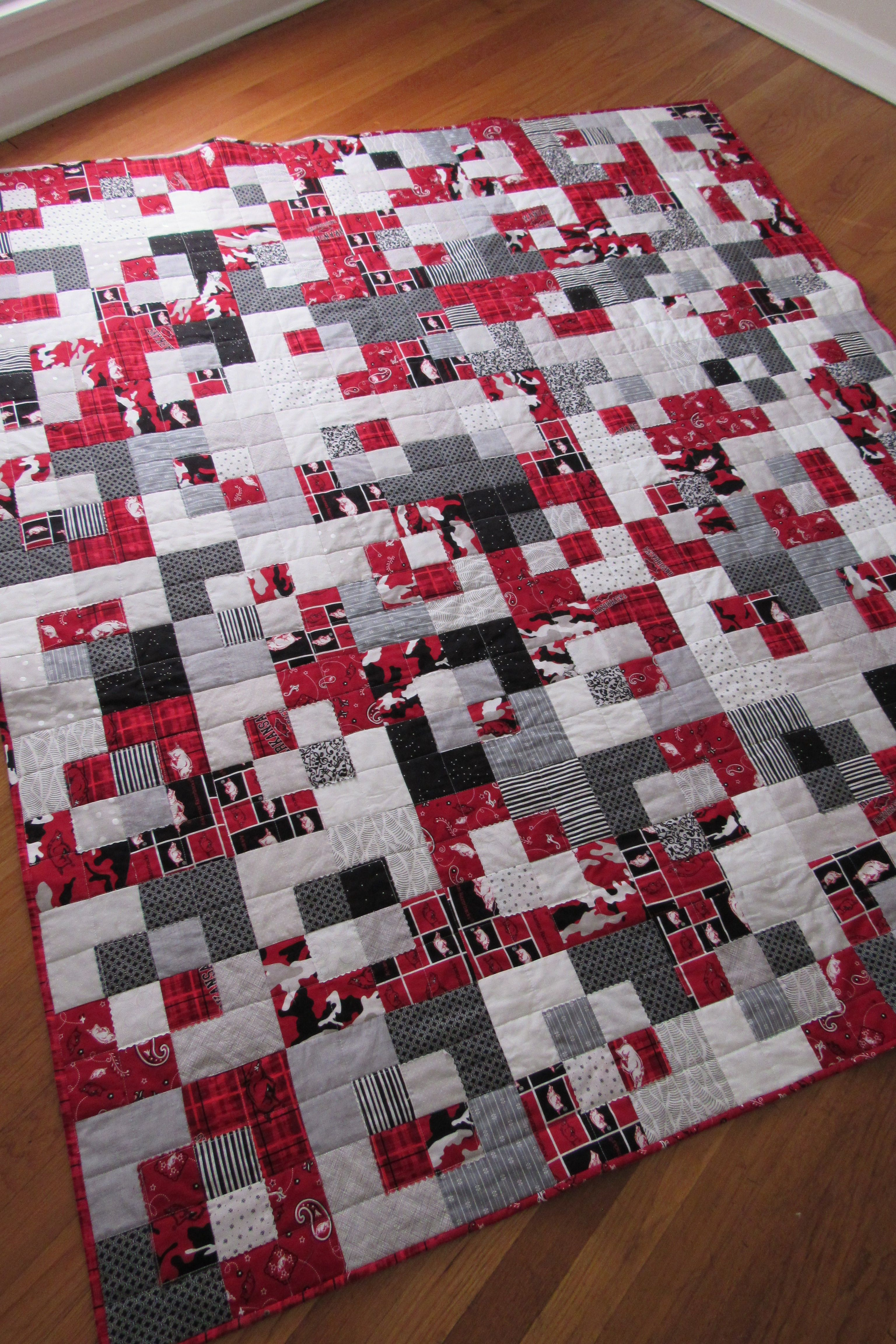 University of Arkansas Five and Dime Quilt - Lindy J Quilts ... : five and dime quilt - Adamdwight.com