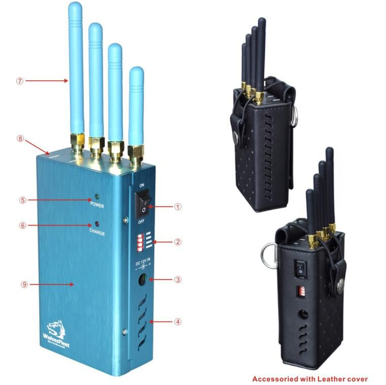 Jammer cell , Four Bands Handheld Cell Phone, GPS and Wifi Signal Jammer with Single-Band Control - For Worldwide all Networks