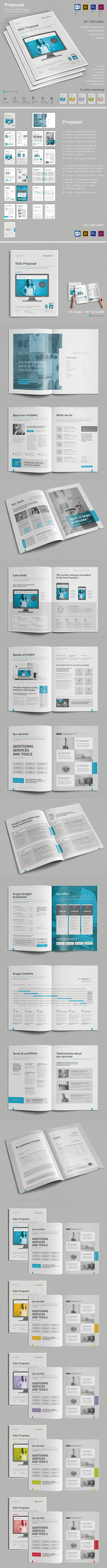Web Proposal Template Psd Indesign Indd Ai Illustrator Proposal