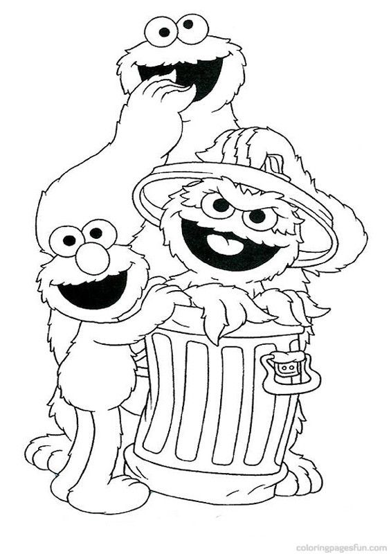 sesame street coloring pages 45 - Sesame Street Coloring Pages Elmo