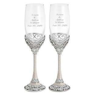 Im Ordering Them D Engraved Park Avenue Toasting Flutes Add Your Personalized Message