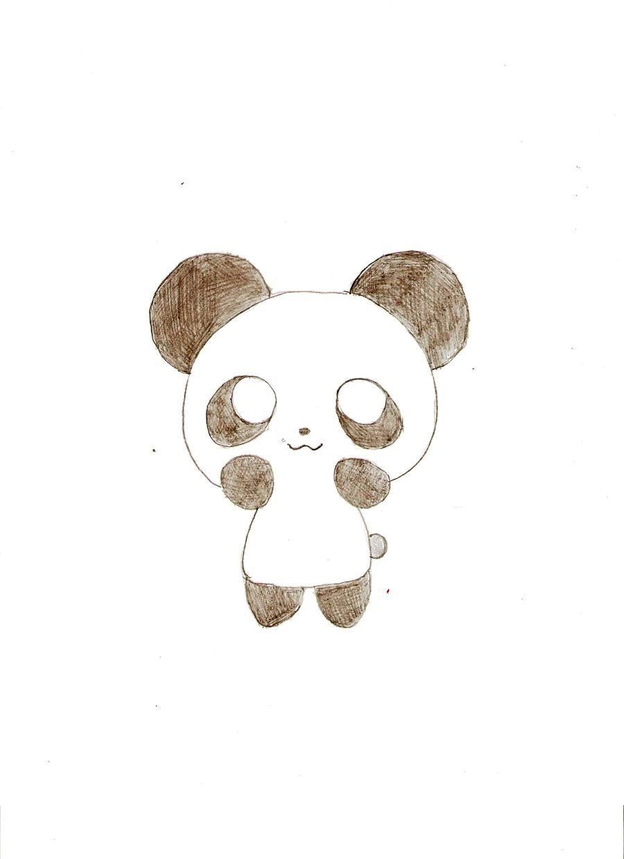 Cute easy drawings of pandas best wallpaper easydrawing for Good ideas for things to draw