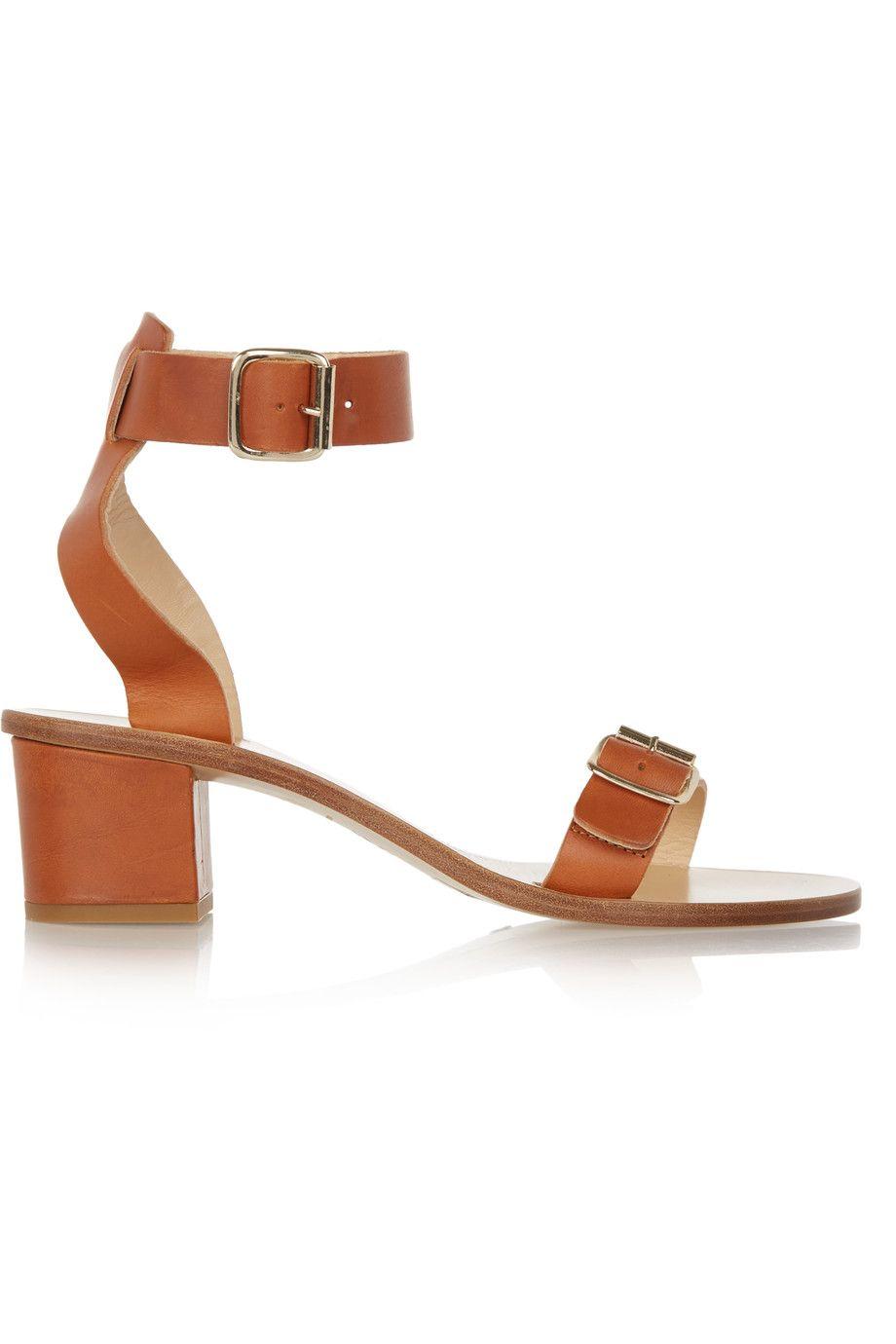 ATP Atelier Carmen Leather Sandals - Tan Factory Outlet 8OORCsZz