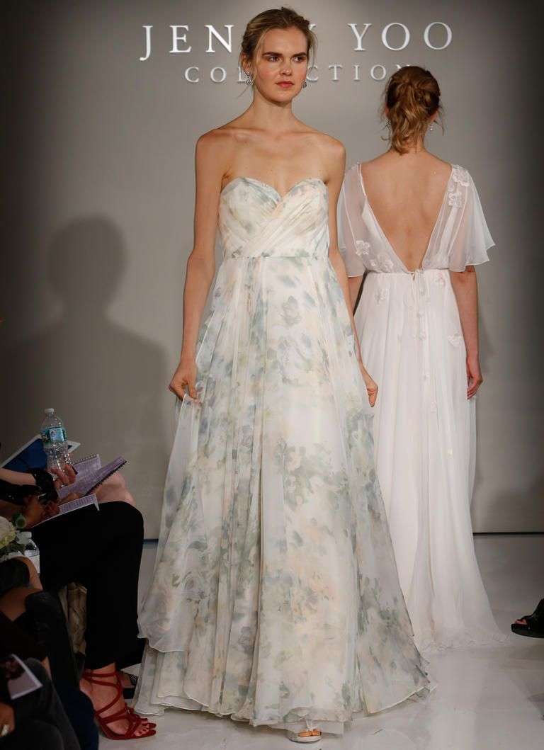 Floral Accents In Jenny Yoou0027s Fall 2016 Wedding Gowns