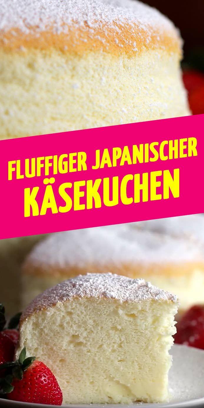 Fluffiger japanischer Käsekuchen