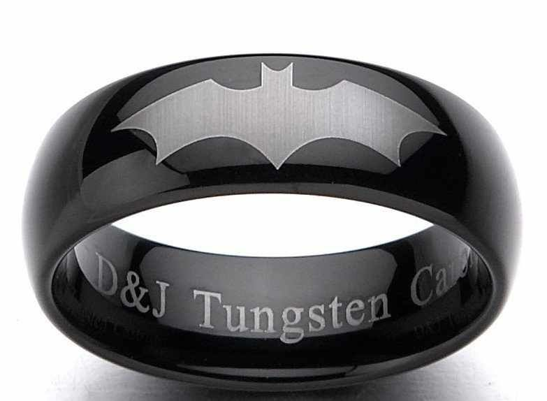 Black Batman wedding ring Jewelry Pinterest Batman wedding