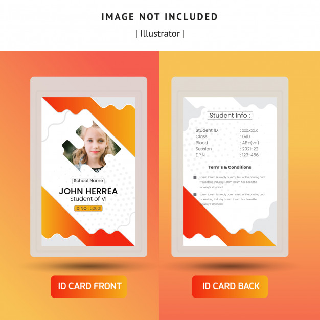 Abstract Id Card Cards Abstract Graphic Editing