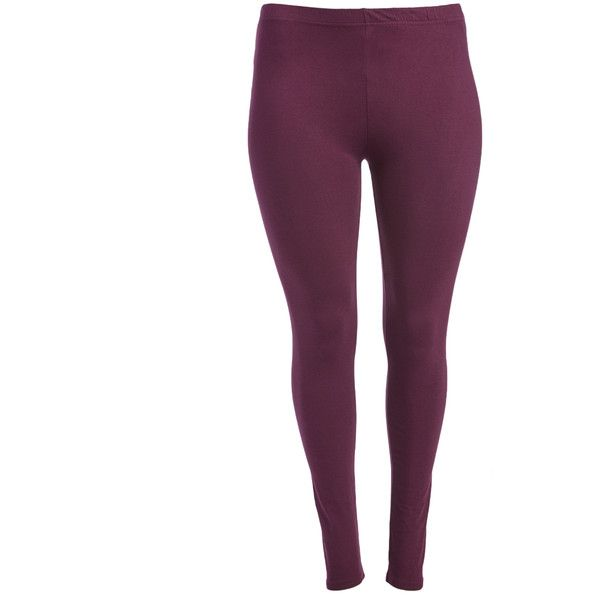 alisha & chloe plum leggings (105 sek) ❤ liked on polyvore