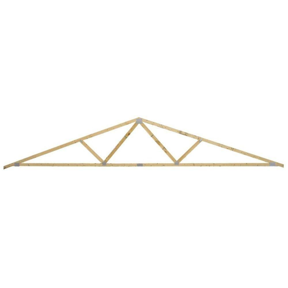 24 Ft 4 12 Roof Pitch 24 In On Center Roof Truss 269520 The Home Depot Roof Trusses Roof Truss Design Pitched Roof