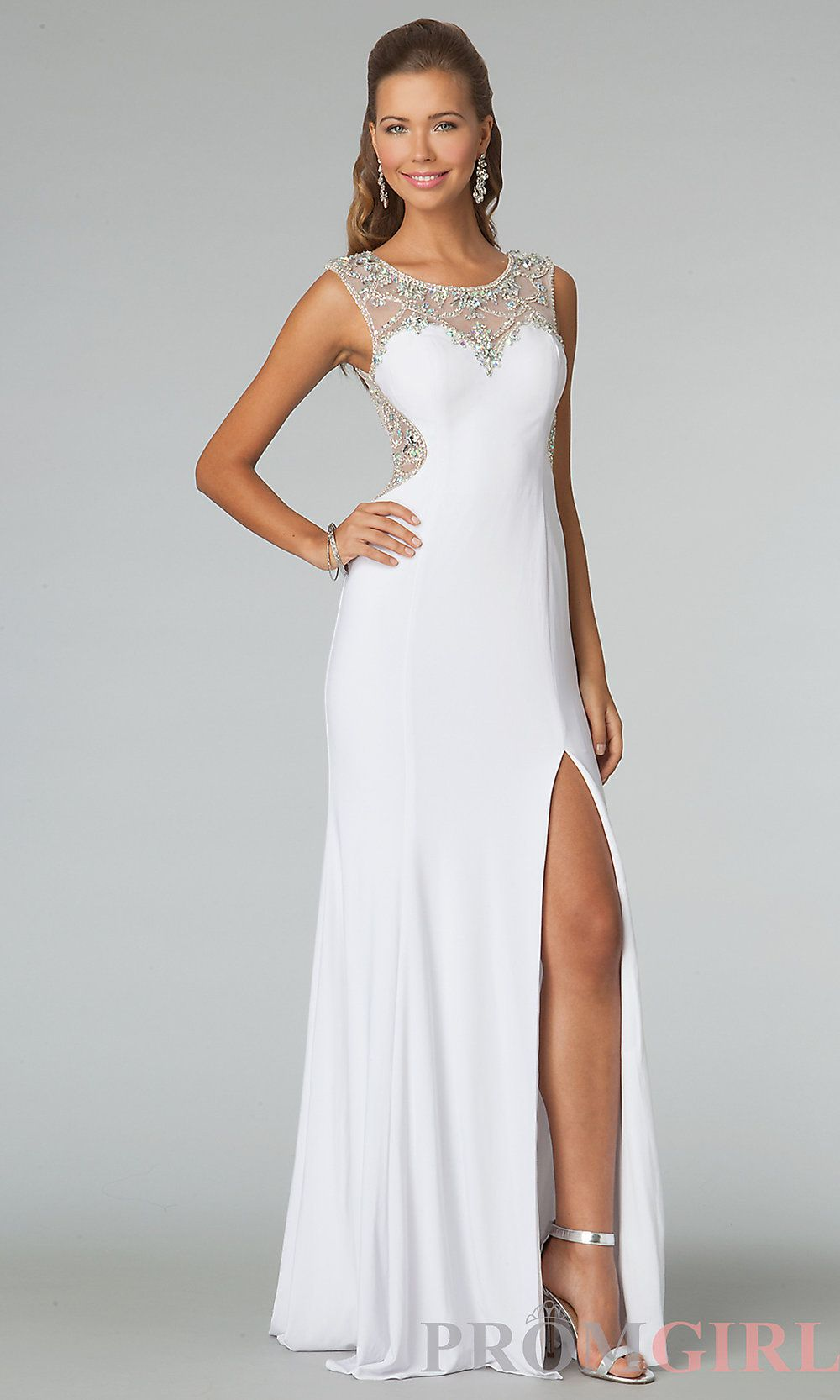 High Neck Prom Dress, JVN by Jovani Sheer Back Gowns- PromGirl#prom ...