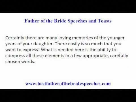 Father Of The Bride Wedding Toasts Smart Tips On Writing Father Of Bride Speeches And Toasts Weddingto Bride Speech Best Man Wedding Speeches Wedding Speech
