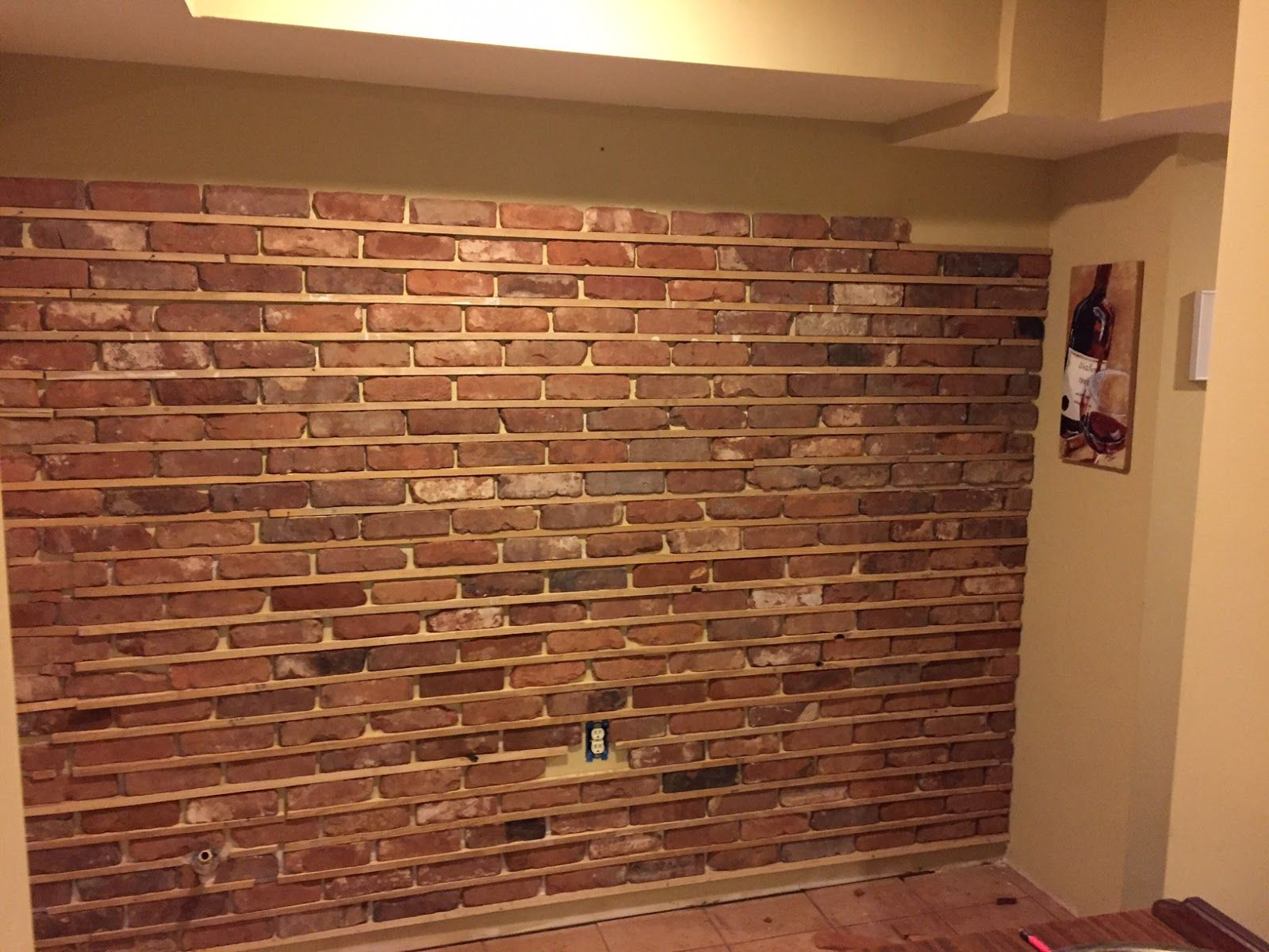 Thin Brick Wall Installation Utilizing