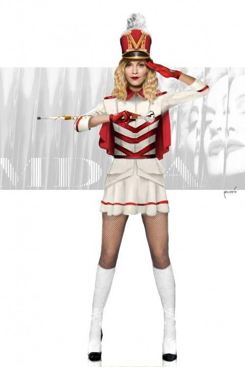 Madonnau0027s 1940u0027s Drum Majorette inspired costume  sc 1 st  Pinterest & Madonnau0027s 1940u0027s Drum Majorette inspired costume | Drum show ...