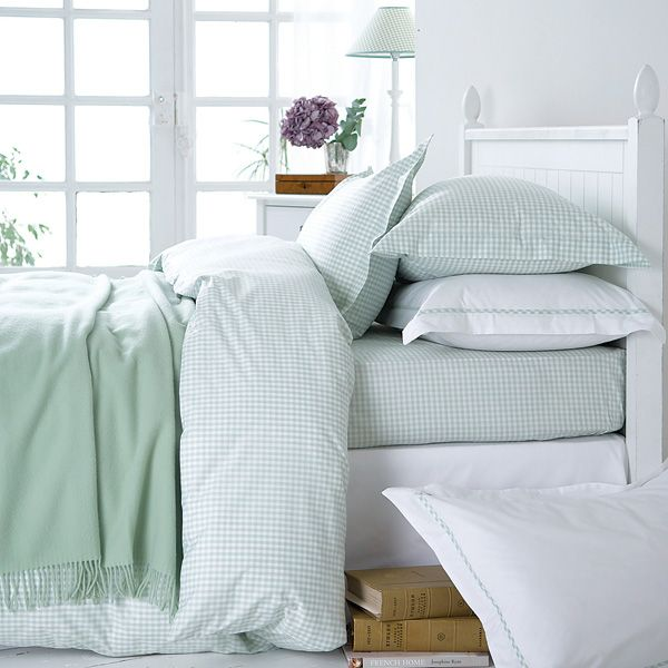 Green Gingham Bed Linen Bedroom Green Dorm Room Inspiration Duck Egg Blue Bedroom