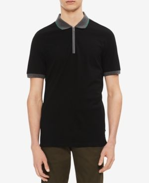 Ben Sherman Mens Solid Polo Shirt with Contrast Tipping