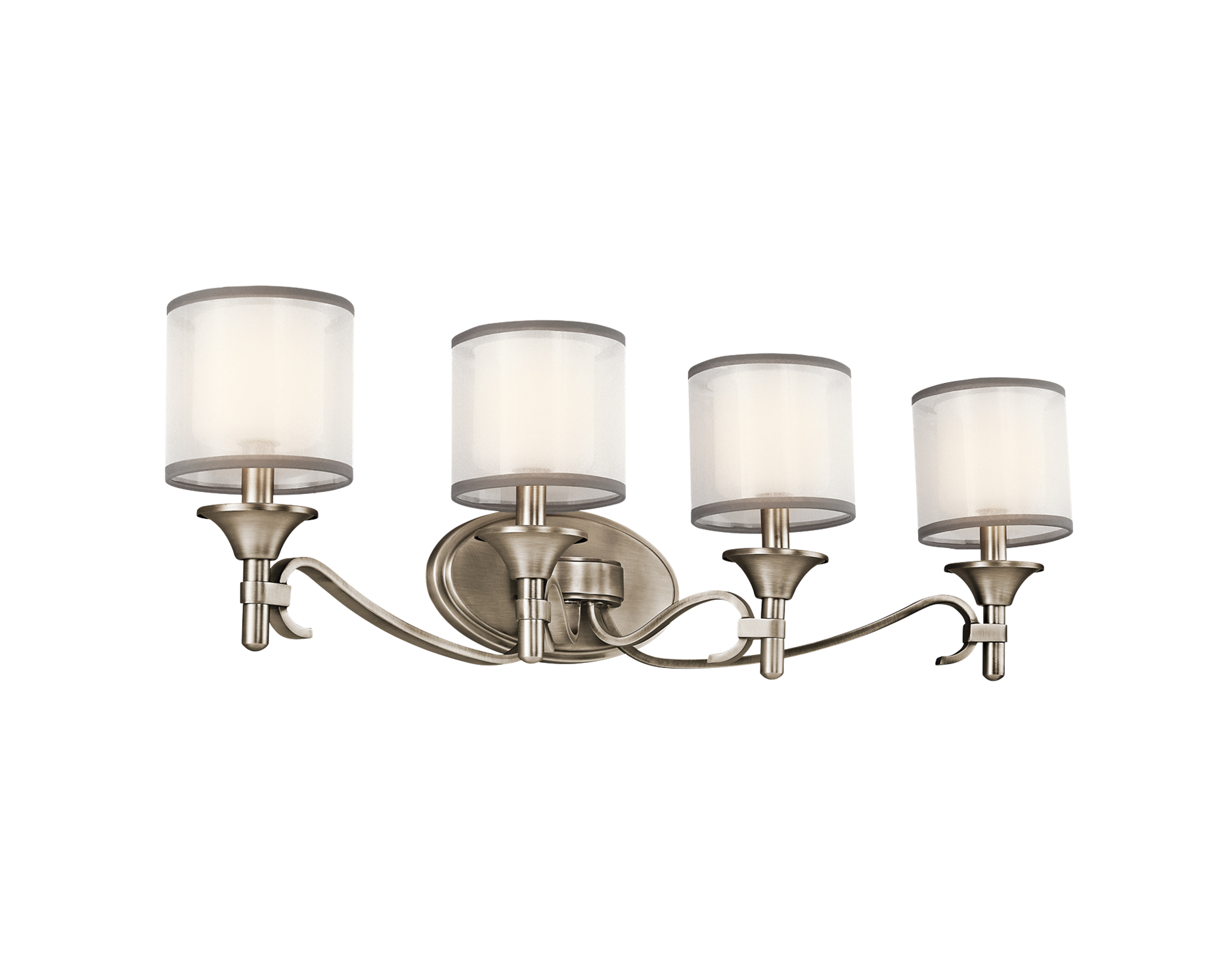 Talista 4 Light Antique Bronze Bath Vanity Light With: Lacey Collection 4 Light Bath Fixture In Antique Pewter