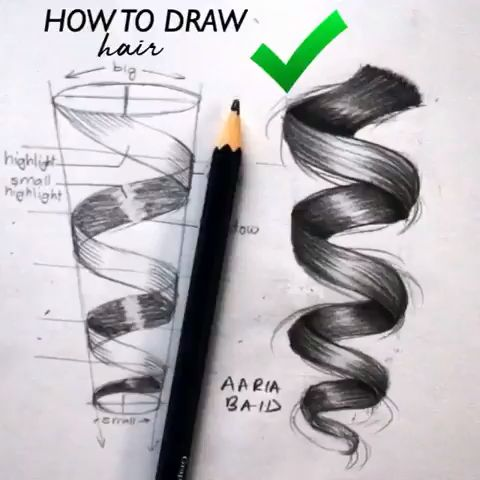 Photo of Hair curl drawing surely simple